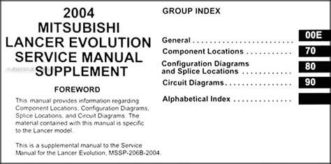 2004 mitsubishi lancer evolution wiring diagram manual