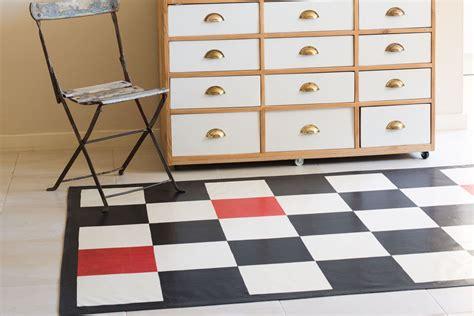 oilcloth rugs make a traditional cloth rug australian handyman magazine