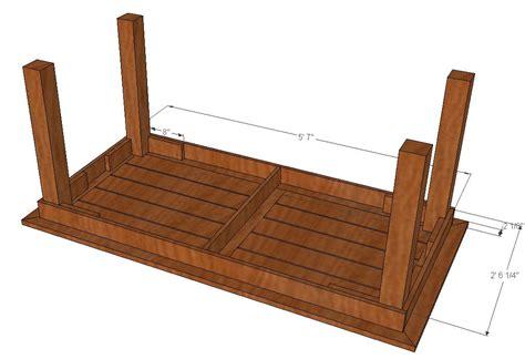 legs for a bench bryan s site diy cedar patio table plans
