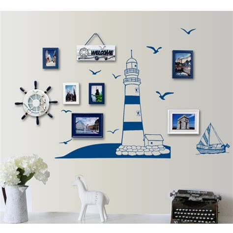 Lighthouse Wall Sticker removable child home decals lighthouse at the beach