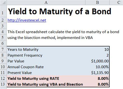 calculator yield to maturity excel vba 金融建模 計算債券到期收益率 eng 金融学 理论版 上传下载专区 经管之家 原人大