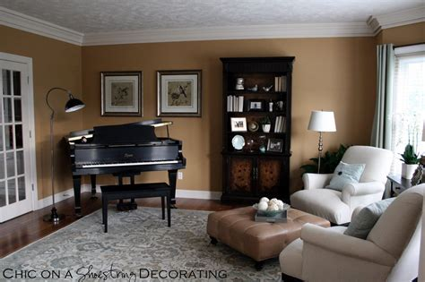 Piano In Living Room | chic on a shoestring decorating grand piano living room