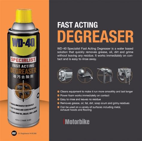 Pembersih Wd 40 Wd 40 174 Specialist Product 450ml Fast Acting Degreaser