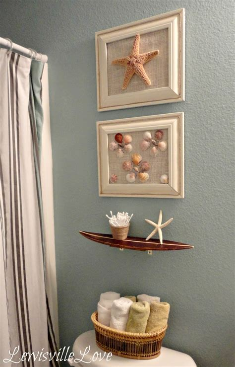 beach decorations for bathroom lewisville love beach theme bathroom reveal