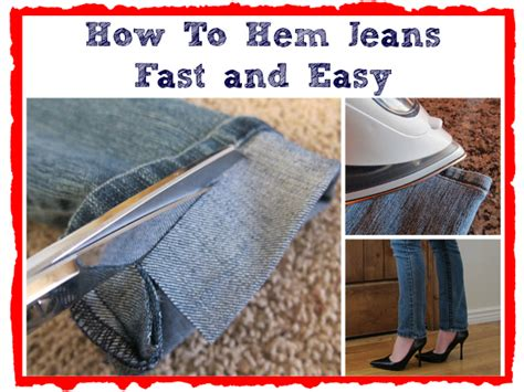 How To Hem Jeans Fast and Easy   DIY Cozy Home