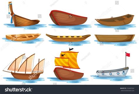 kinds of boats illustration different kind boats stock vector 216487024