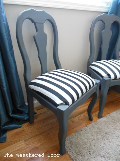 Grey Striped Armchair Chairs Grey And Stripes The Weathered Door