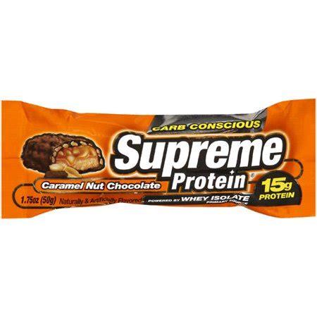 supreme protein supreme protein caramel nut chocolate bar 1 75 oz