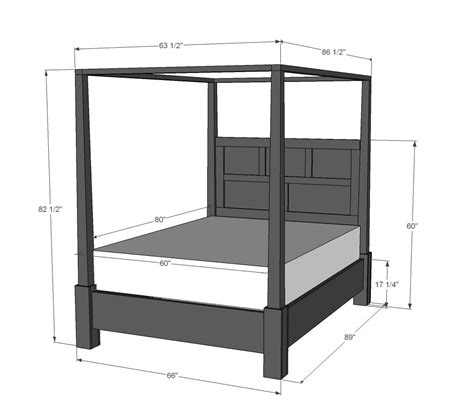 ana white build  dawsen canopy  poster bed queen