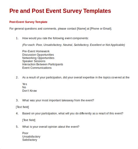 event survey template commonpence co