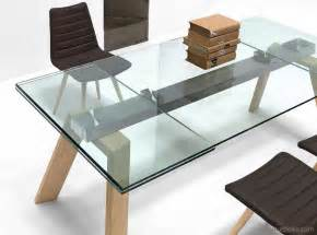 table en verre rallonge d 233 coration de intraaz