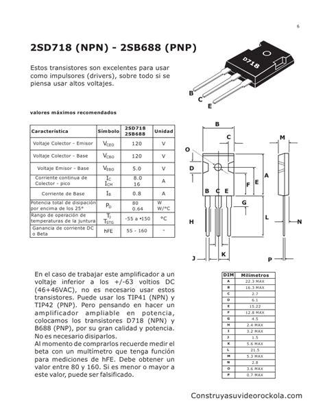 transistor mosfet caracteristicas pdf lificador estereo 250 watts