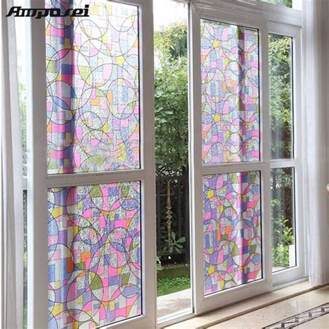 decorative window stickers for home aliexpress com buy 45x200cm privacy textured static