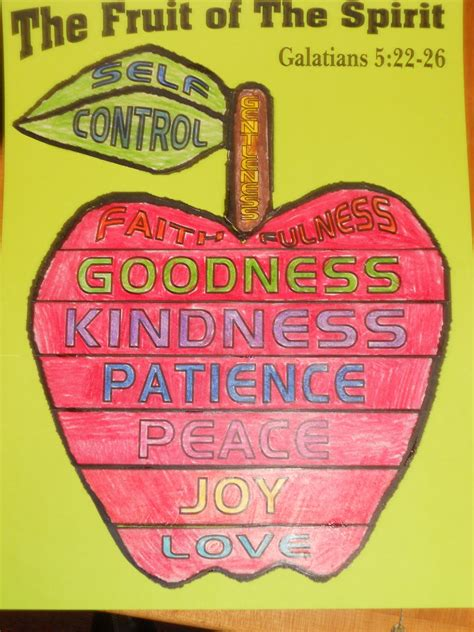 fruit of the spirit crafts for on bible fruit of the spirit lesson 2