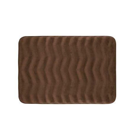 17x24 Bath Mat Bouncecomfort Waves Mocha 17 In X 24 In Memory Foam Bath Mat Ymb002044 The Home Depot