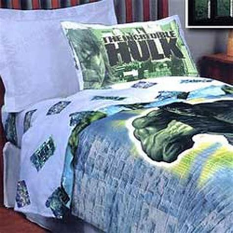 hulk bedroom new incredible hulk marvel comic full bedding comforter ebay
