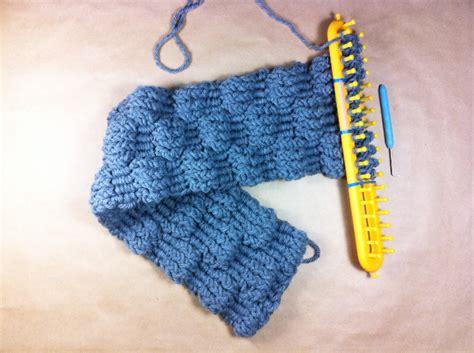 rectangle loom knitting bufandas en telar rectangular puntadas