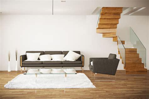 Treppe Im Wohnbereich by Offene Wohnung Wohnk 252 Che Schlafzimmer Und Bad Ohne W 228 Nde