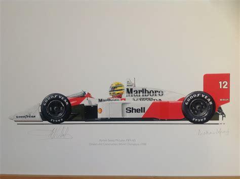 1988 Ayrton Senna F1 Mclaren Mp 4 4 Formula 1 Gp Diecast Replica 1 43 ayrton senna mclaren mp4 4 matthew jeffreys draw to drive