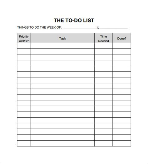 10 To Do Checklist Sles Sle Templates How To Do A Business Template