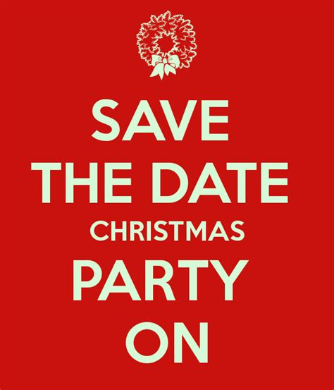 save the date christmas party on poster sophie keep