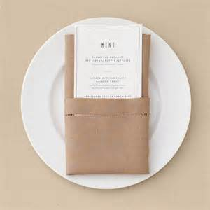 Pocket Fold Pocket Napkin Fold Martha Stewart Weddings