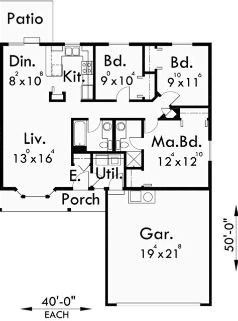 single story duplex designs floor plans one story duplex house plans 3 bedroom duplex plans