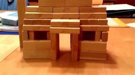 how do you make a house jenga house youtube