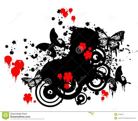 imagenes abstractas rojas mariposas y flores rojas fotos de archivo imagen 5795873