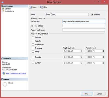 sql query notification tutorial sql server enabling alerts and notifications