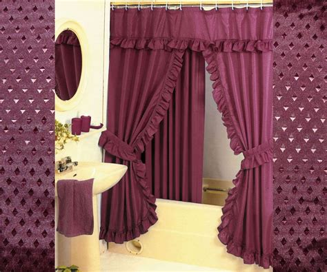 Swag Shower Curtain Sets by Hg Station Pattern Fabric Swag Shower