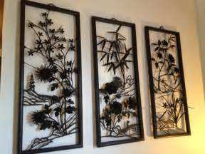 Asian Wall Decor by Mid Century Asian Metal Wall