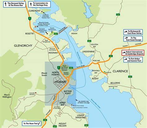map of hobart city city map hobart mapsof net
