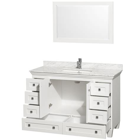 white vanity cabinets for bathrooms acclaim 48 quot white bathroom vanity set