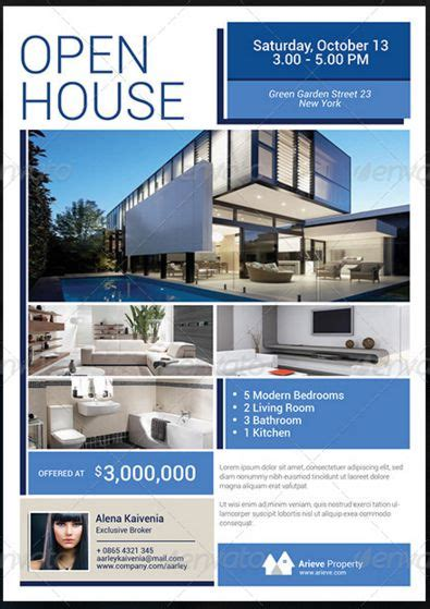34 Spectacular Open House Flyers Psd Word Templates House For Sale Ad Template