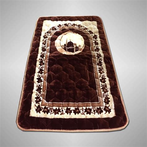 janamaz prayer rug buy brown val vet fiber quilted janamaz prayer rug prayer mat fpm 06 in pakistan