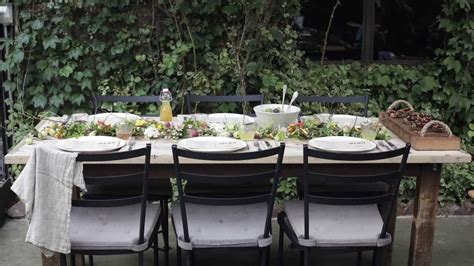 how to set up a backyard party setting the perfect garden party table youtube