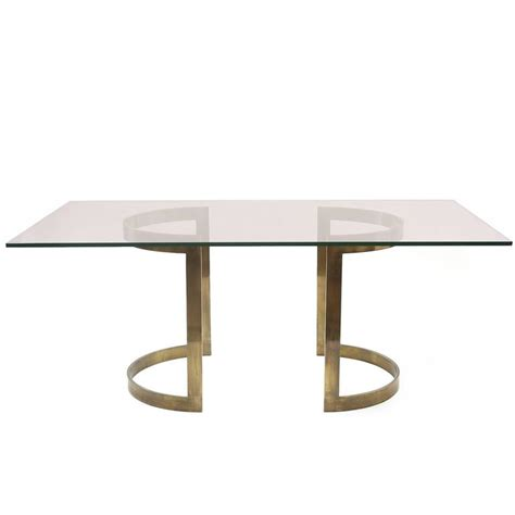 glass and bronze table l milo baughman bronze and glass dining table at 1stdibs