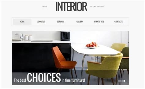 How To Choose The Best Interior Design Website Template Interior Design Web
