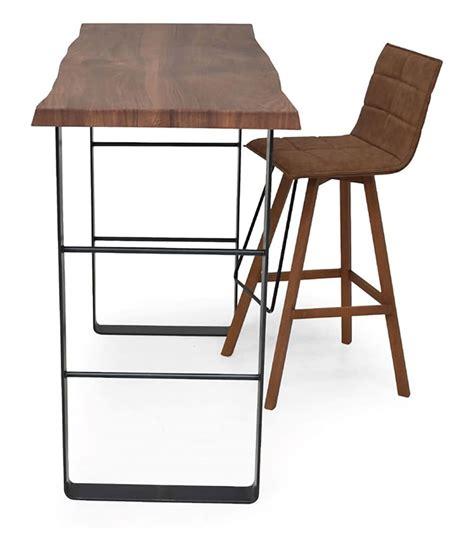 tavolo snack cucina tavolo alto con base in metallo e piano in legno