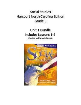 nettling 5th grade social studies leslienettlingcom harcourt 5th grade social studies unit 1 by a sle of
