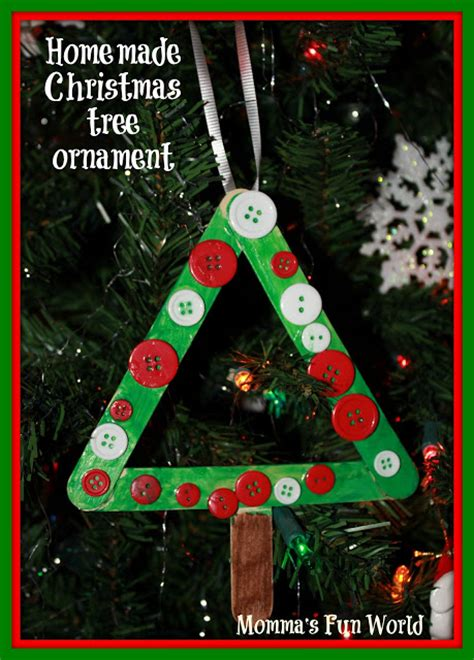 popscile stick christmas tree ornament frame recycling