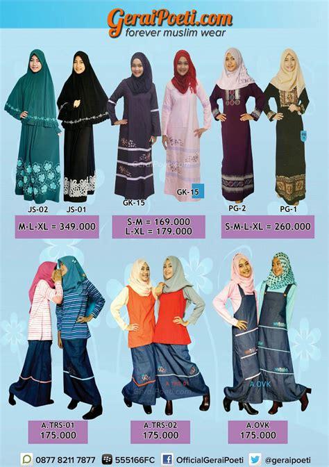 Katalog Baju Muslim Keke Dewasa katalog baju muslim anak dan dewasa geraipoeti collection 2016 page 5 distributor mukena silky