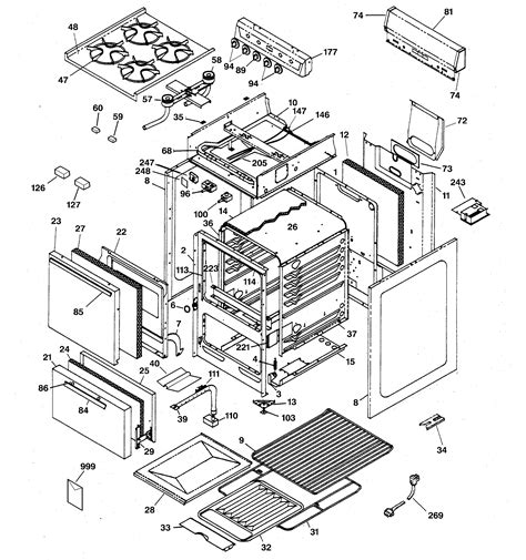 hotpoint oven parts diagram hotpoint gas range parts model rga520pw3 sears partsdirect