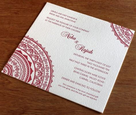Wedding Card Wording In In Indian Style by 2 New Indian Wedding Invitation Designs Indian Wedding