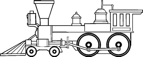 coloring page railcar locomotive clipart transcontinental railroad pencil and