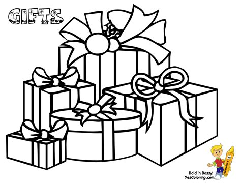 coloring page of gift box christmas coloring pictures christmas day free