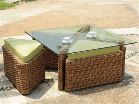 Square Wicker Coffee Table South Sea Rattan Java Wicker 48 Square Glass Coffee Table 79246