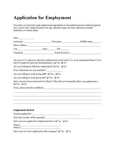construction employment application template free employee application form