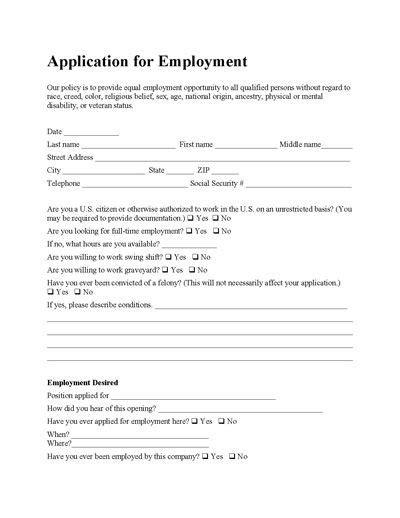 Free Employee Application Form Free Salon Application Template